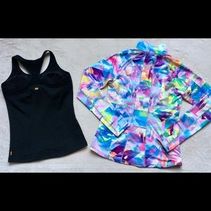 Lucy Athletic Pastel Abstract Jacket & Tank Top LG